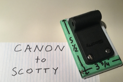 Canon to Scotty Adapter