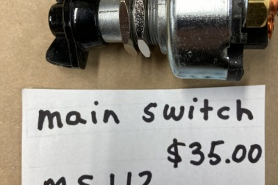 MS112 Replacement Main Switch