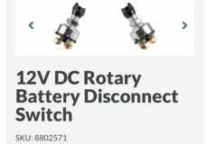 Rotary Battery Disconnect